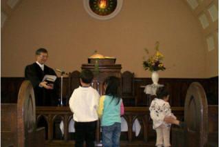 子供祝福合同礼拝